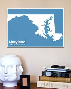The Modern United States // Minimalist Maryland Poster by NeueModernPress, $20.00