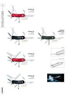 Wenger Swiss Army Knife Catalog Page 2009 - 2010 Wenger Swiss Army Knife, Tactical Knives, Primitive, Catalog, Character, Outdoor Knife, Knives, Knifes, Brochures