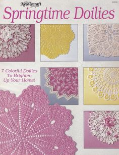 Springtime Doilies, The Needlecraft Shop Crochet Pattern Booklet 89H8 OOP