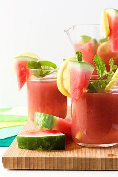 Watermelon Cucumber Mint Lemonade
