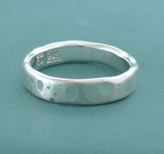 Want. https://www.etsy.com/ca/listing/62508701/recycled-sterling-silver-wedding-ring
