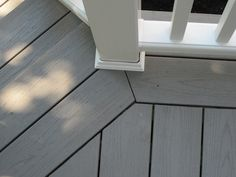 Trex Deck Pewter Color with White Bannisters