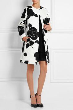 Dolce & Gabbana Floral-print cotton-blend jacquard coat. I am lusting after this coat.