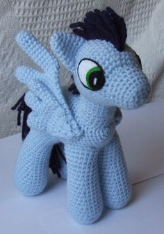 Knit One Awe Some: My Little Pony: Friendship is Magic - free pattern - including for open wings, closed wings, horn and more!