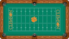 South Carolina Clemson Tigers Football Field Pool Table Cloth