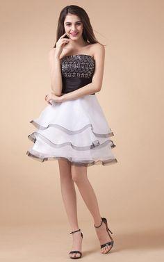 Organza Fake zweiteilige knielanges Süß 14 Geburtstag Kleid/ Festliche Kleid mit Gürtel