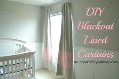 DIY Blackout Lined Curtains DIY Curtains DIY Home DIY Decor>> definitely need to learn how to do this when my studio comes together!