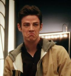grant gustin and his grumpy turtle face <3