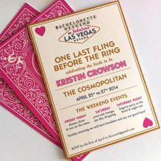 Las Vegas Bachelorette by LittleCrowStudio on Etsy Vegas Bachelorette, Bachelorette Party Invitations, Hotel Party, Vegas Party, My Bridal Shower, Las Vegas Trip, Bridesmaids, Poker, Awesome