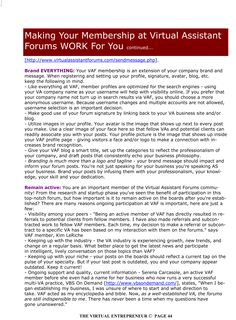 Making your Membership at Virtual Assistant Forums Work For You - January 2010