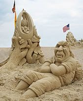 Hampton Beach, New Hampshire - The Premier Vacation Spot on the NH Seacoast and a Whole Lot More! Snow Sculptures, Sand Sculpture, Hampton Beach Nh, Sand Art, Great Night, Portsmouth, Weekend Trips, New Hampshire, Oh The Places You'll Go