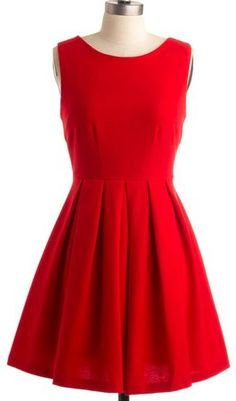 little red dress, perfect for the holidays