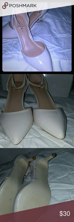 Brand new 8.5 Ivory Pumps Patent leather pumps new in box , strap around ankles Journee Collection Shoes Heels