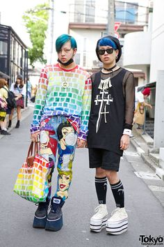 Harajuku Guys w/ Blue Hair, Jeremy Scott, Long Clothing, Dominic Jones, Dog & KTZ Harajuku Guys With Blue Hair – Tokyo Fashion News