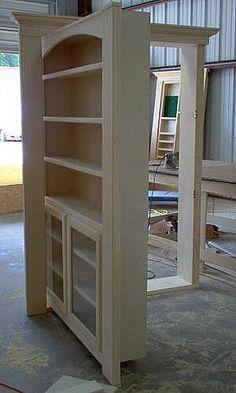 Hide A Door - Secret Doors and Passageways - Gallery 32 House Design, New Homes, Secret Door, House, Bookcase Door, Hidden Rooms, Secret Rooms, Home, Hidden Door