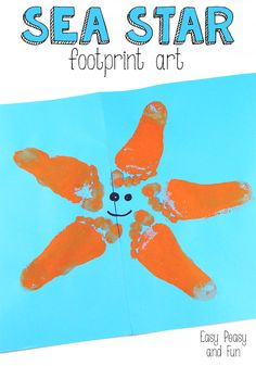 Starfish Footprint Art