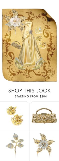 """""""Gold Scroll"""" by duci ❤ liked on Polyvore featuring Elie Saab, Devon Leigh, Kenneth Jay Lane, Mary Frances Accessories, Martinez Valero, Tiffany & Co. and K Brunini"""
