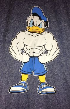 "Disney $19.99 Muscle/Bodybuilding/Workout/Gym Donald Duck ""Hard Duck"" Men's T-Shirt New #Disney #GraphicTee"