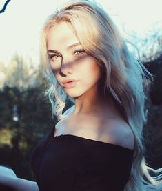 Blue blonde girls hair eyes with tumblr