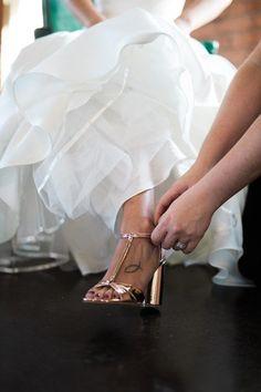 Rose gold wedding sh