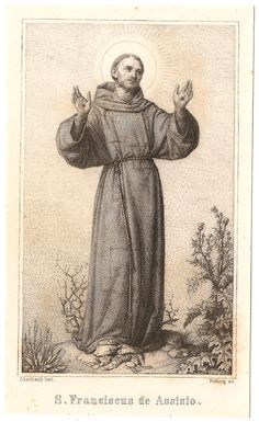 St. Francis of Assisi Antique French Holy Prayer by 12StarsVintage