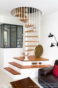 9 Fantastic Spiral Staircase Designs That Bring Your House Into Modern Look Talkdecor 9 Fantastic Spiral Staircase Designs That Bring Your House Into Modern Look Talkdecor Jasmin Heim jasminheim Innenarchitektur und Lebenskunst nbsp hellip House Stairs, House Design, Interior Stairs, Tiny House Stairs, Interior, Home Stairs Design, Apartment Design, House Interior, Small Space Stairs