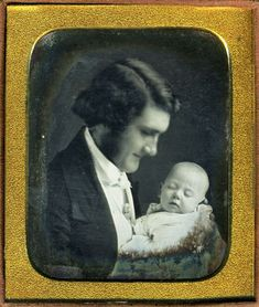 Father and Baby, 1840s
