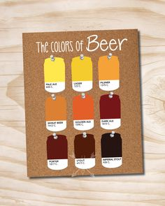 craft beer poster pantone beer cans the colors of beer printed 11x14 poster by PaperHeartCompany on Etsy https://www.etsy.com/listing/213544815/craft-beer-poster-pantone-beer-cans-the