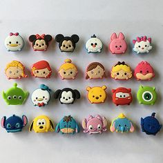 $8 24pcs/lot Tsum Tsum PVC Shoe Charms Accessories for Croc&Jibbitz Kids Party Gift