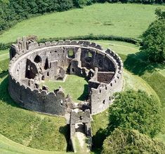 Aerial View of Restormel Castle - on the Saints Way.