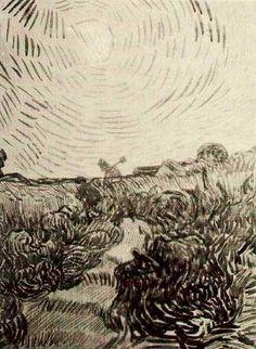 Vincent van Gogh: Sun Disk above a Path between Shrubs  Saint-Rémy: April, 1890 (Collection Francey and Dr. Martin L. Gecht: Chicago, United States)