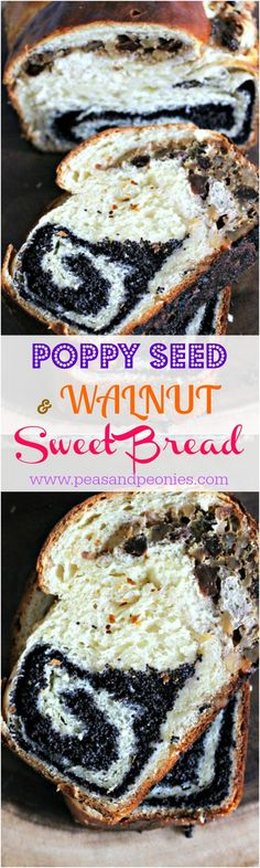 Poppy Seed and Walnut Roll Bread - Peas and Peonies Brunch Recipes, Sweet Recipes, Dessert Recipes, Top Recipes, Desserts, Recipies, Good Food, Yummy Food, Tasty