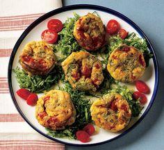 Koolhydraatarm dieet en recepten: Muffins met gebakken tomaten