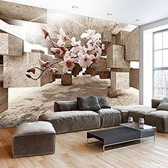 Murando   Fototapete 3D 400x280 Cm   Vlies Tapete   Moderne Wanddeko    Design Tapete   Wandtapete   Wand Dekoration   Optische Täuschung Illusion  Blumen ...