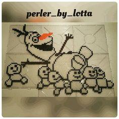 Olaf - Frozen Fever hama perler beads by perler_by_lotta - Pattern: https://www.pinterest.com/pin/374291419010985083/