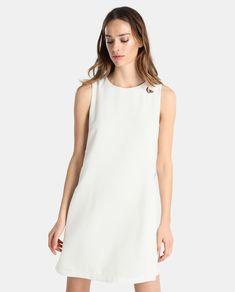 Vestido blanco de mujer Elogy con eyelets