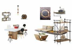 Industrial dinning room by uana. Create your own interior design moodboard now! Office Desk, Create Your Own, Interior Design, Room, Furniture, Home Decor, Nest Design, Bedroom, Desk Office