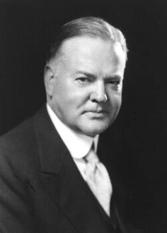 President Herbert Hoover - 31st president of the United States.
