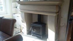 The Cheminée fireplace made in Lancashire sandstone. Natural Stone Fireplaces, Fireplace Surrounds, Hearth, Home Remodeling, Natural Stones, Hand Carved, Home Appliances, House Design, Wood