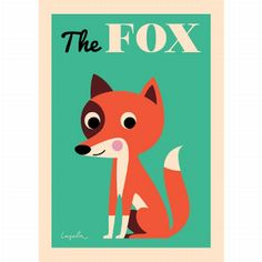 #Ingela vos #poster 50x70 #Fox from www.kidsdinge.com www.facebook.com/pages/kidsdingecom-Origineel-speelgoed-hebbedingen-voor-hippe-kids/160122710686387?sk=wall http://instagram.com/kidsdinge #Toys #Speelgoed