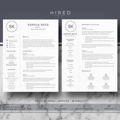 "Professional & Modern Resume Template for MS Word: ""Sophia"" - Hired Design Studio Cover Letter Format, Cover Letter Template, Letter Templates, Modern Resume Template, Cv Template, Resume Templates, Resume Cv, Resume Writing, Free Resume"