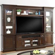 parker house stanford 4pc wall in vintage sherry finish for in living room