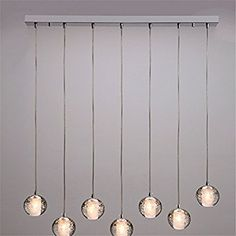Modern Magic Ball Led Crystal Bubble Glass Pendant Light For Dining Room Globe Hotel Project Lamp Meteor Shower Lights Fixtures,5 Balls