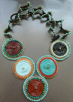 Such a fun necklace via Beadsong Jewelry.