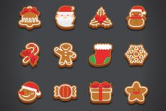 This is flat style Christmas Cookie Icons Set. it is cute and simple design