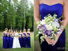 LILLIE'S FLOWER JOURNAL: Weddings: A Summer Wedding in Blue and Lavender