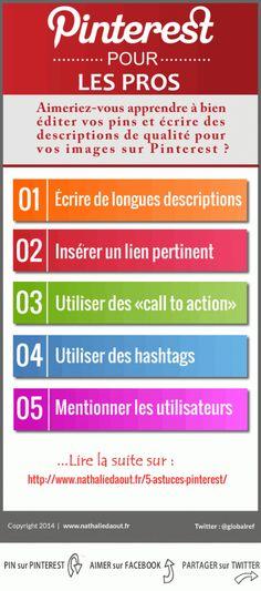 5 astuces pour rédiger de bonnes descriptions sur #Pinterest | via #BornToBeSocial