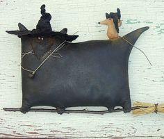 Mousie's Glorious Ride, A Primitive Folk Art Pattern From Raven's Haven. $9.00, via Etsy.