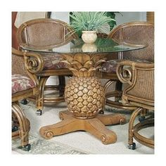 Hospitality Rattan Sunset Reef Indoor Rattan and Wicker Pineapple