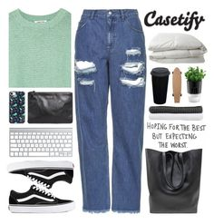 """""""#630 Casetify 5"""" by mia5056 ❤ liked on Polyvore featuring Elizabeth and James, Topshop, Vans, Casetify, Nimbus, Bodum, MANGO and Abyss & Habidecor"""